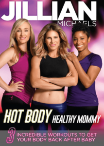 Jillian Michaels Hot Body Healthy Mommy Review, an at home workout for your postpartum weight loss journey.