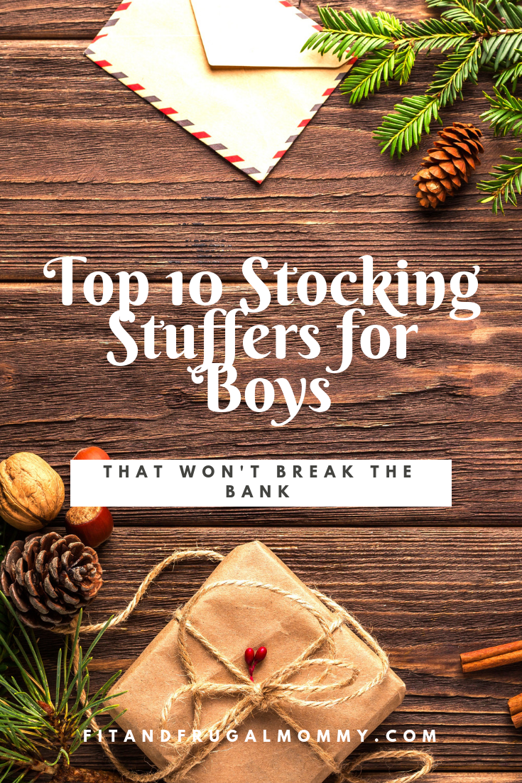 Top 10 Stocking Stuffers for boys that are budget friendly and fun! #fitandfrugalmommy #stockingstuffers #christmas #presentideas