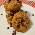Gluten Free Peanut Butter chocolate cookies. #healthyrecipes #eatclean #fitandfrugalmommy #glutenfree