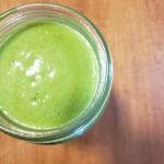A creamy, green, super food smoothie that's packed with nutrients and low on calories! #fitandfrugalmommy #healthyrecipes #healthysmoothies #health #fitness #eatclean #lowcarb