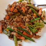 Quick & Easy Ground Chicken Stir Fry for busy nights! #fitandfrugalmommy #dinnerrecipe #cleaneating #healthydinner
