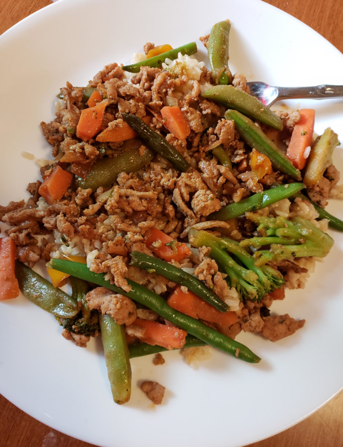 Quick & Easy Ground Chicken Stir Fry
