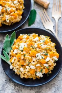 Well Plated's Slow Cooker Butternut Squash Risotto