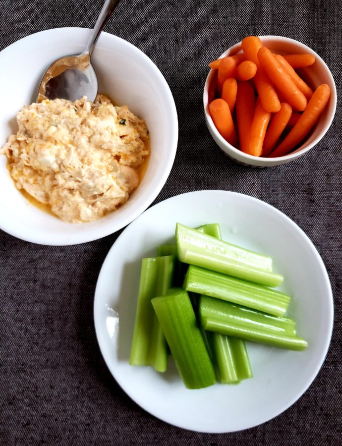 High Protein Low Carb Buffalo Chicken Dip, a healthy snack recipe or lunch recipe that will keep you full for hours! #fitandfrugalmommy #healthyrecipes #health #eatclean #lowcarb