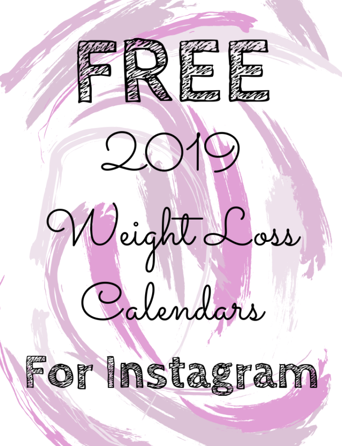 FREE 2019 Weight Loss Calendars for Instagram