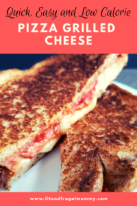 Quick and easy, low calorie pizza grilled cheese. A healthier lunch recipe to help you fight pizza cravings!