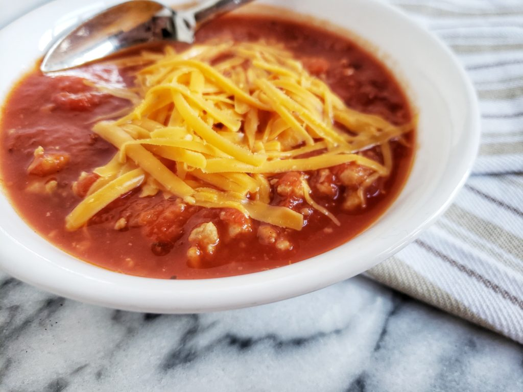 Stuffed Pepper soup, a low carb, keto lunch or dinner recipe that's super filling and delicious! A quick and easy dinner.