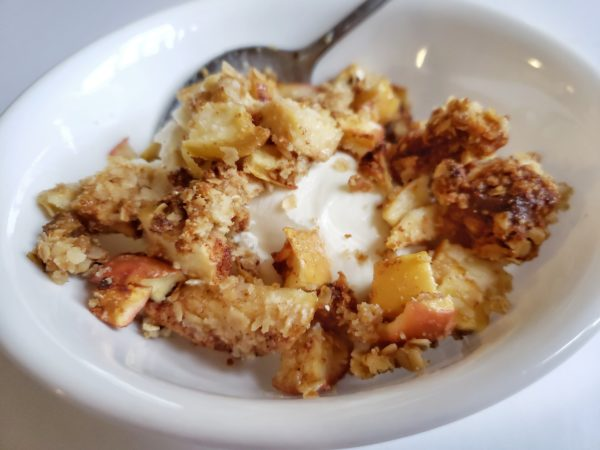 Healthy Air Fryer Apple Crisp Gluten Free Fit And
