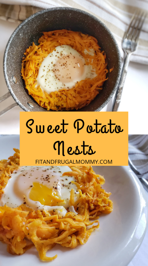Sweet Potato nests. A quick and easy, healthy breakfast recipe. Low calorie breakfast option.