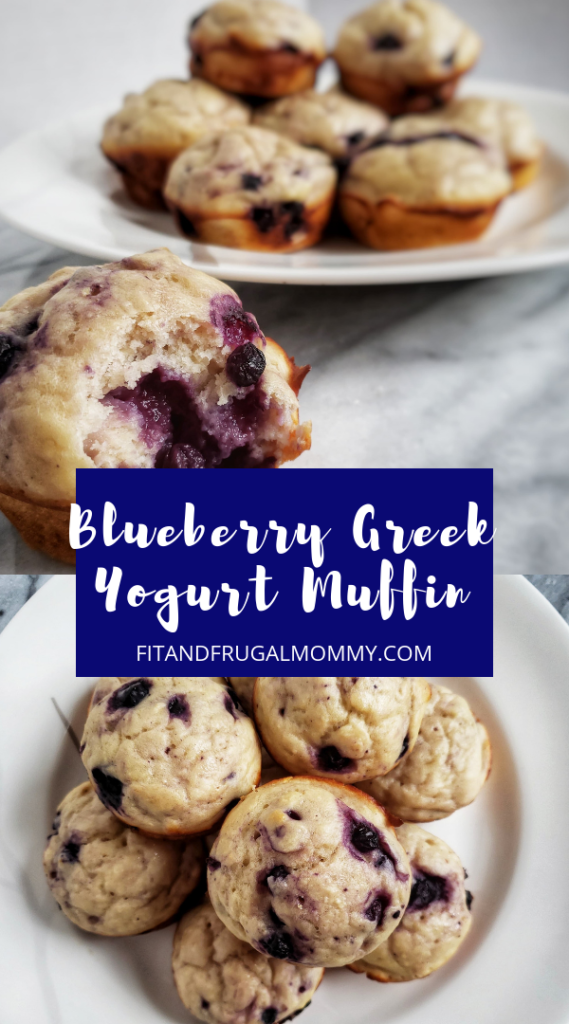 Blueberry Greek Yogurt Muffin, a naturally sweetened, low calorie muffin with a little extra protein. A perfect quick and easy healthy snack recipe.